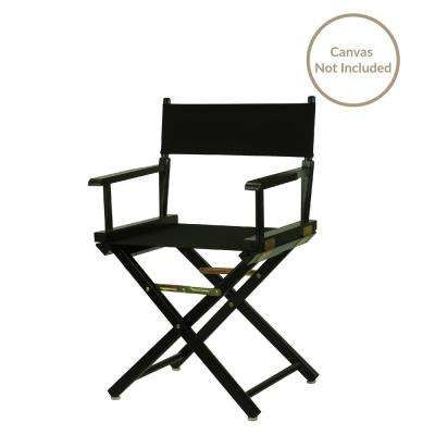 18 in. Director's Chair Black Solid Wood Frame