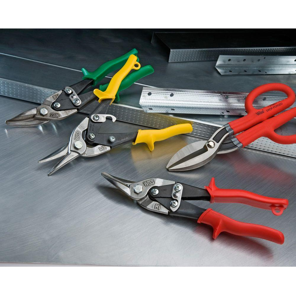 Wiss M2rs Right Cut Aviation Snips Straight Right Curved