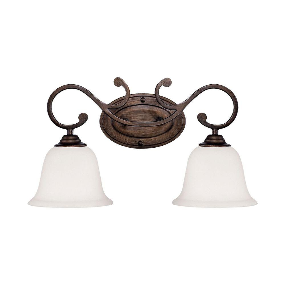 Millennium Lighting 2 Light Rubbed Bronze Vanity Light
