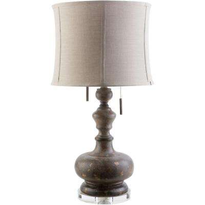 Adler  29 in. Mercury Glass Indoor Table Lamp