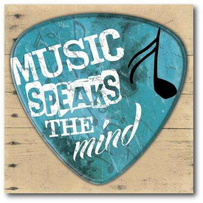 "16 in. x 16 in. ""Music speaks the mind"" Gallery Wrapped Canvas Printed Wall Art"