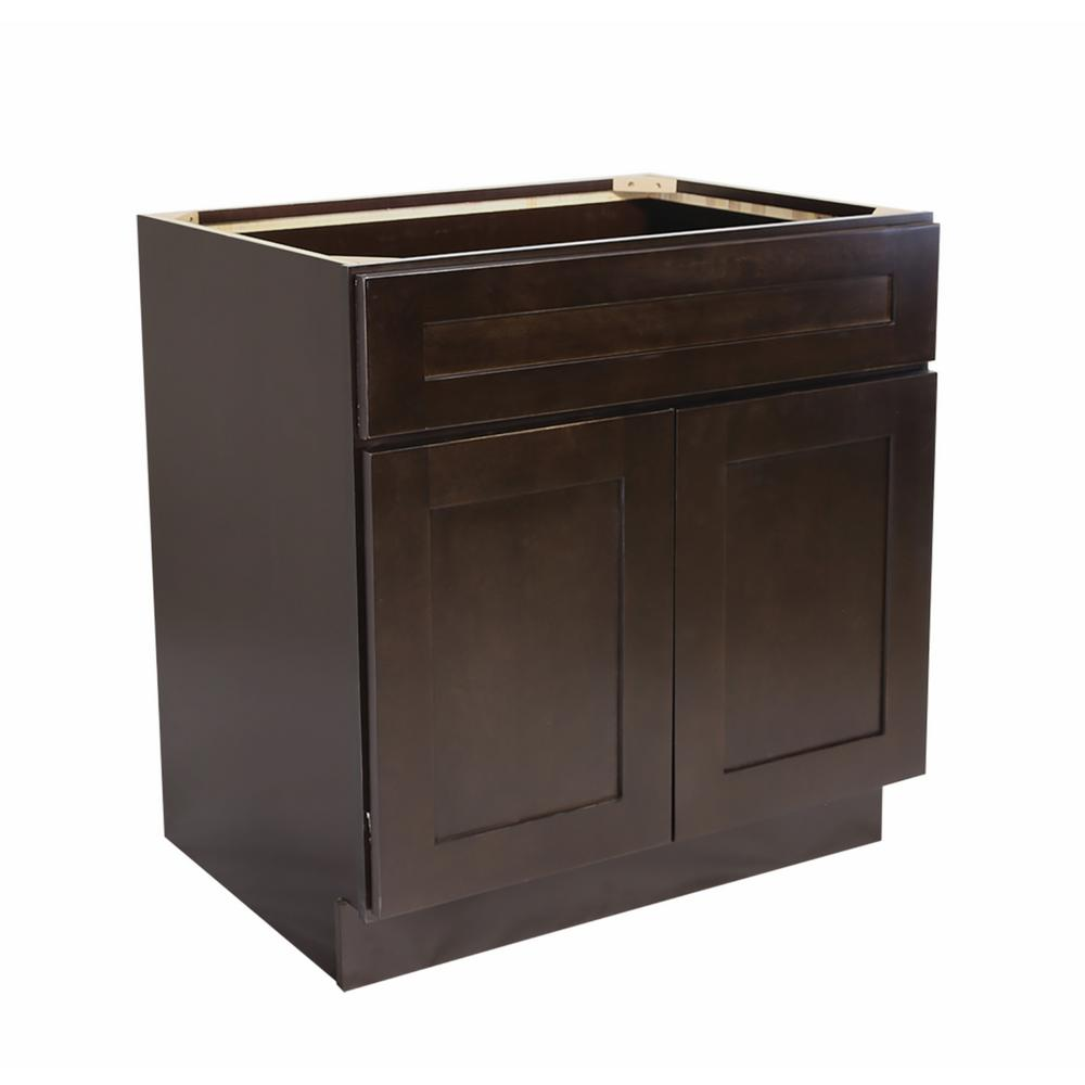 Design House Ready To Assemble 48x24x34 1 2 In Brookings Shaker Style 2 Door Sink Base Cabinet