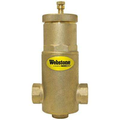 3/4 in. FIP Forged Brass Air Separator with Removable Vent Head and Coalescing Medium