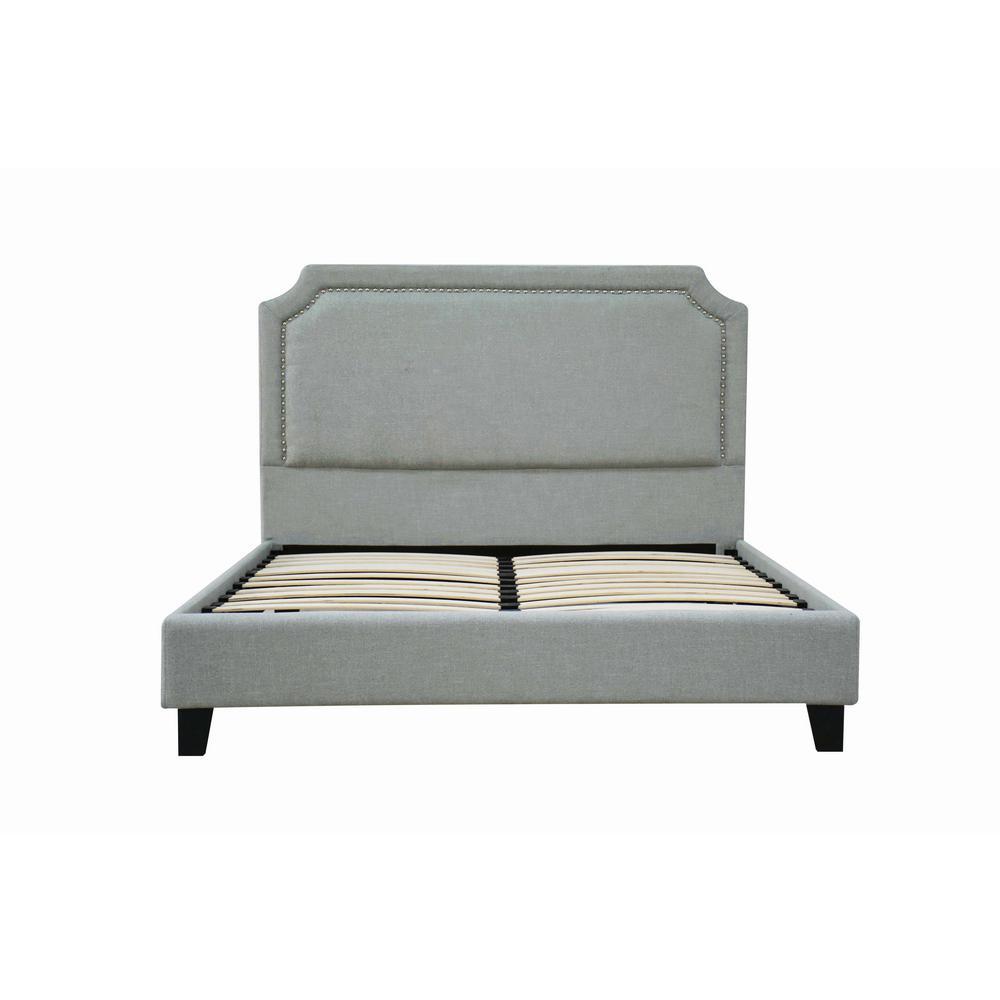 Amias Aqua Linen Queen Bed