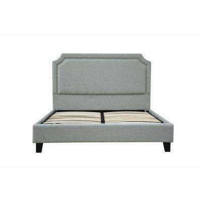 Amias Aqua Linen Queen Bed