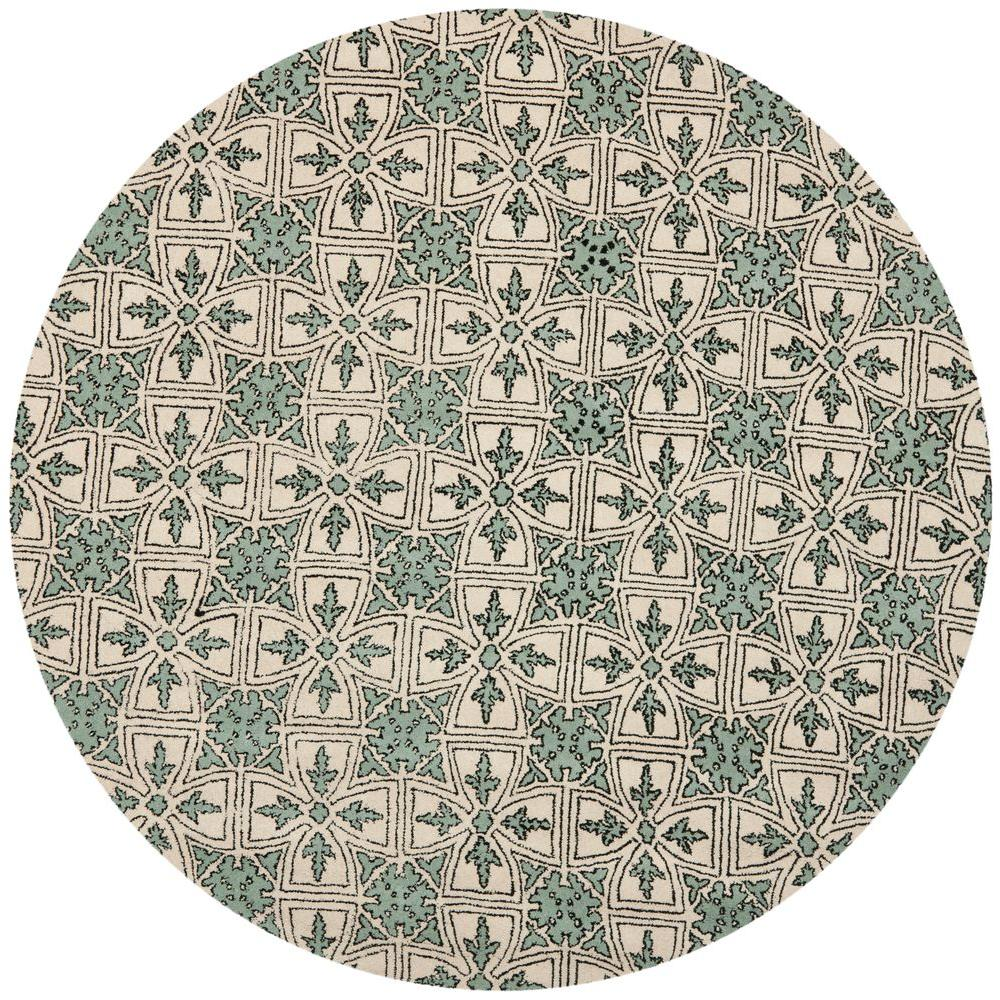 Chatham Light Blue/Ivory 7 ft. x 7 ft. Round Area Rug