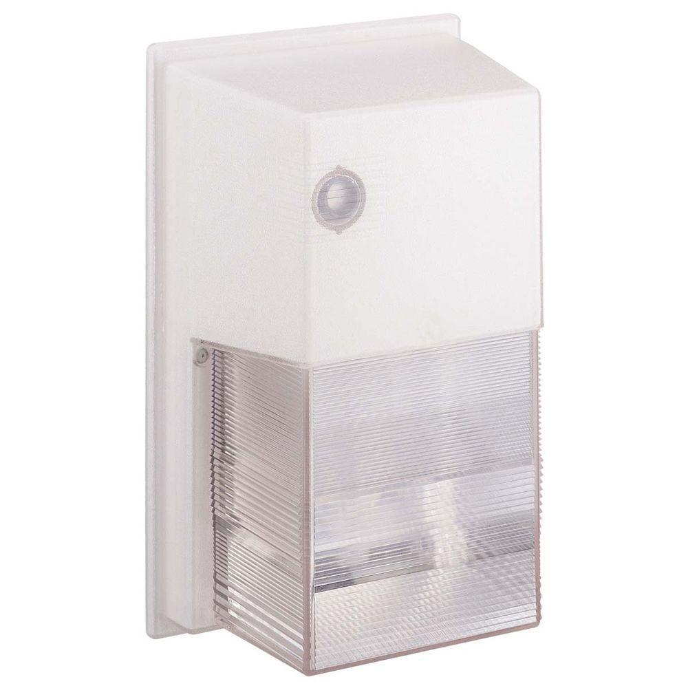 Globe Electric 35-Watt Outdoor White Sodium Photocell Security Wall Light Fixture