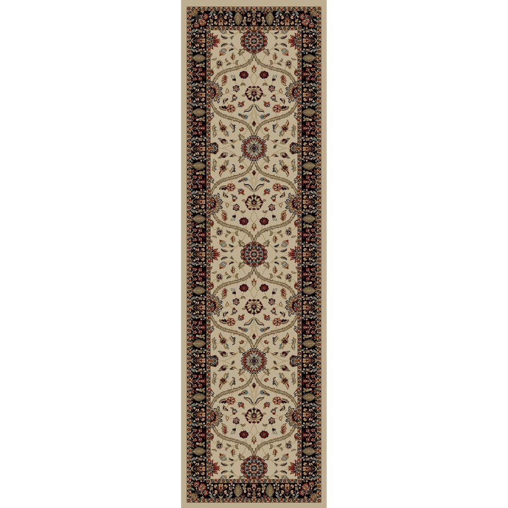 Concord Global Trading Jewel Voysey Ivory 2 ft. 3 in. x 7 ft. 7 in. Rug Runner