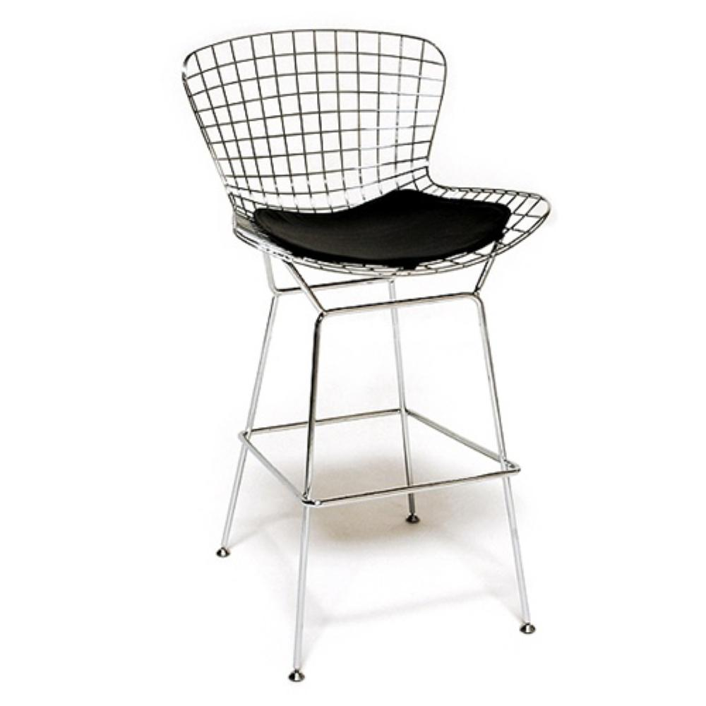 41 in. Wire Bar Height Chair Black
