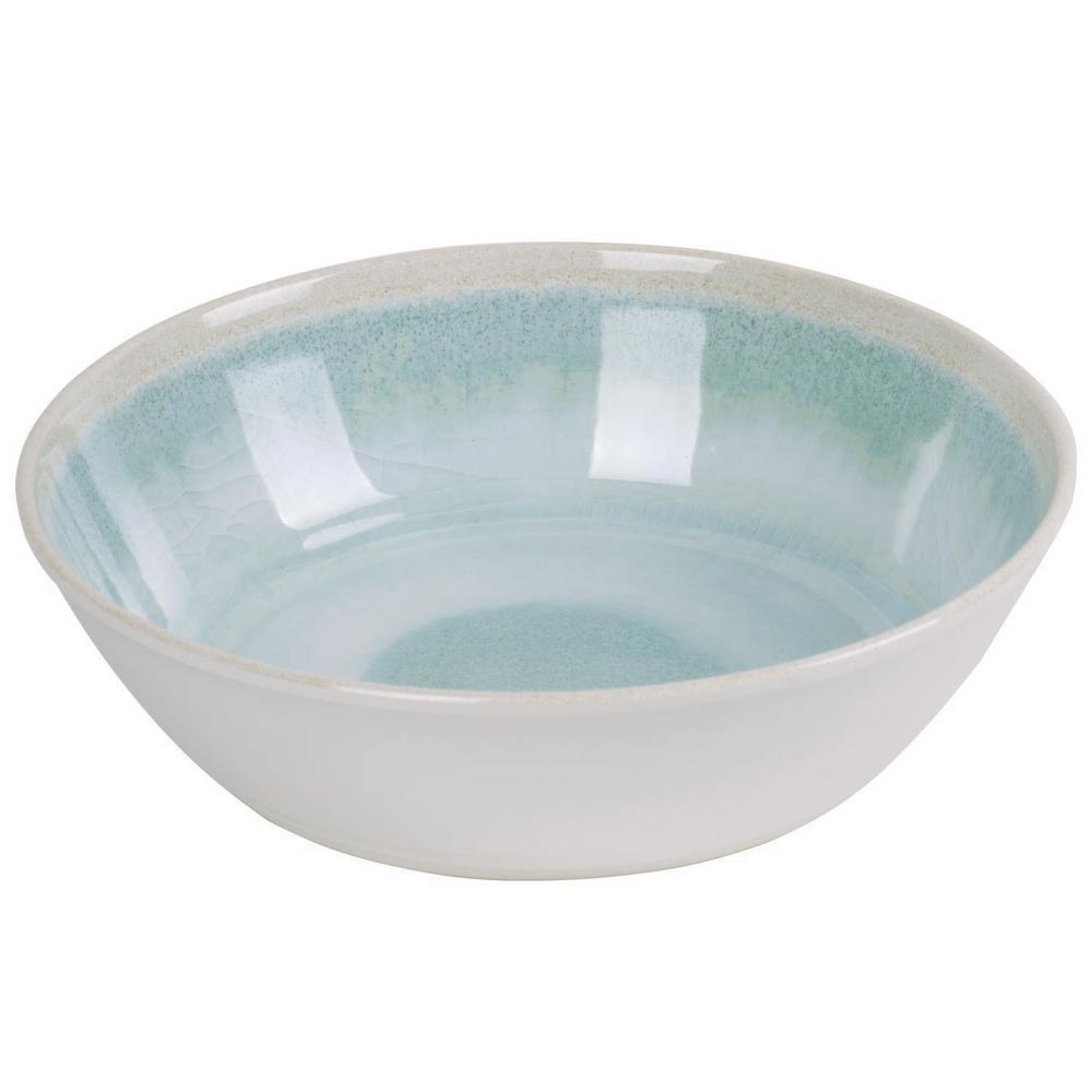 Raku Aqua Melamine Bowl