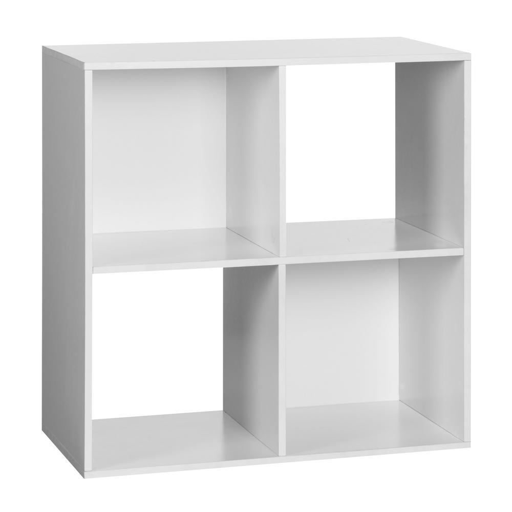 4-Cube Organizer, White