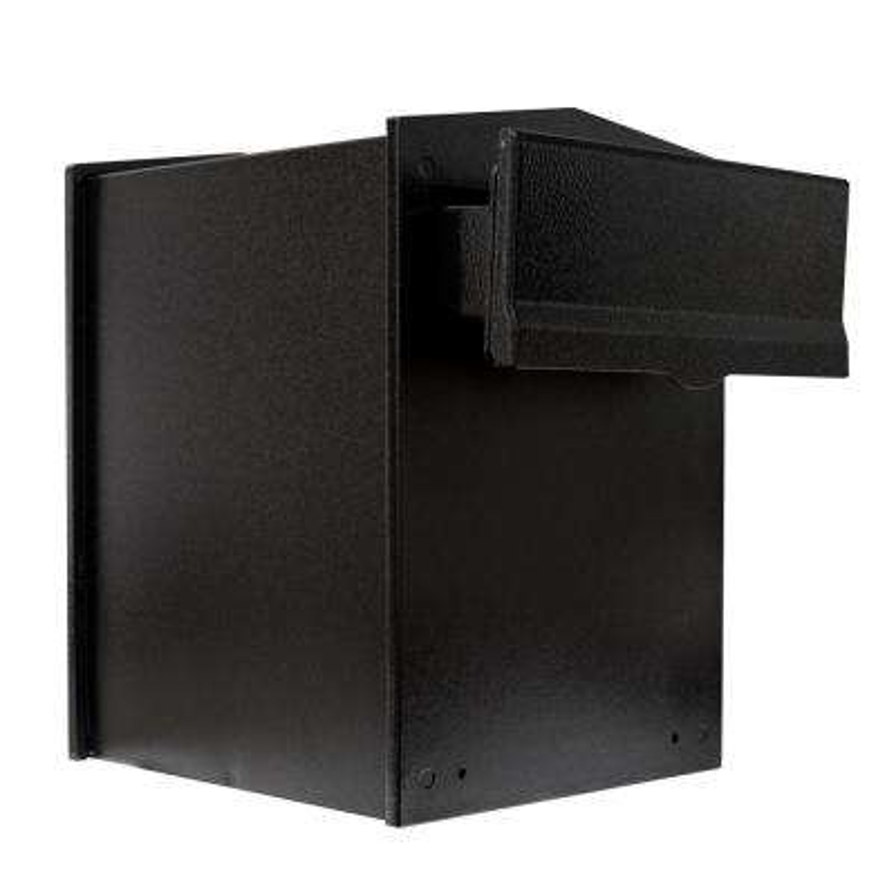 Liberty Black Wall Mount Locking Mailbox