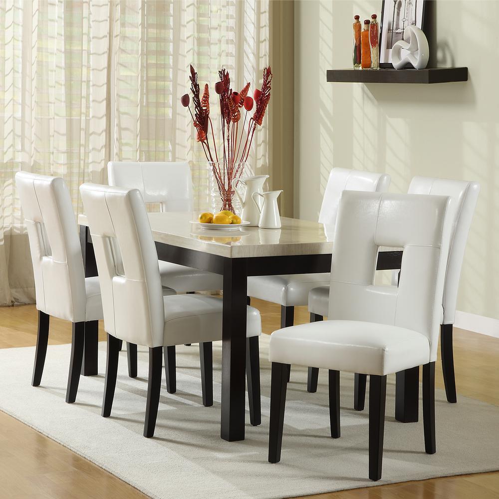 HomeSullivan Sorrento 7-Piece Black Dining Set