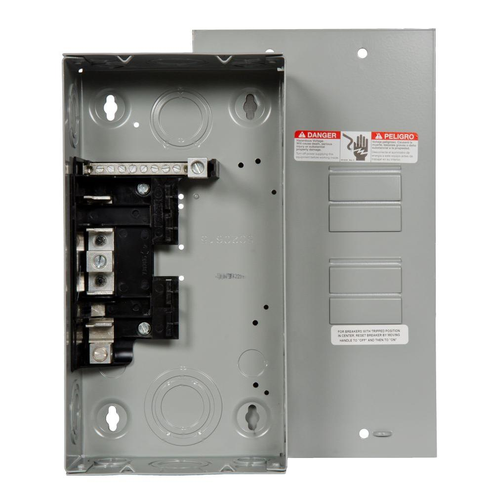 Siemens Eq 125 Amp 4 Space 8 Circuit Main Lug Surface Mount Indoor Load Center E0408ml1125su The Home Depot