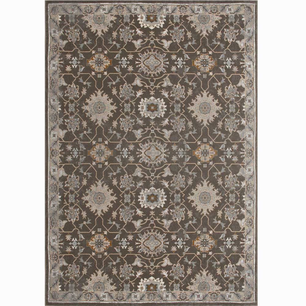 Home Dynamix Royalty Brown 5 Ft 2 In X 7 Ft 2 In