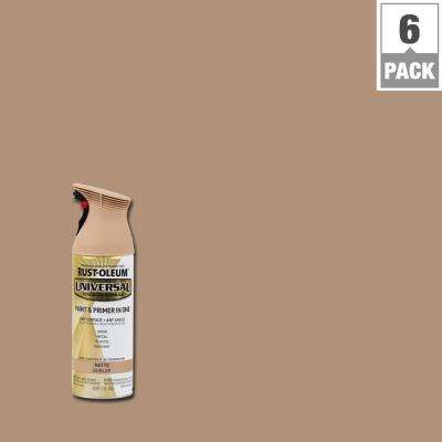 12 oz. All Surface Matte Burlap Spray Paint and Primer in One (6-Pack)