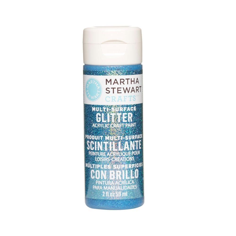 Martha Stewart Crafts 2-oz. Lapis Lazuli Multi-Surface Glitter Acrylic Craft Paint