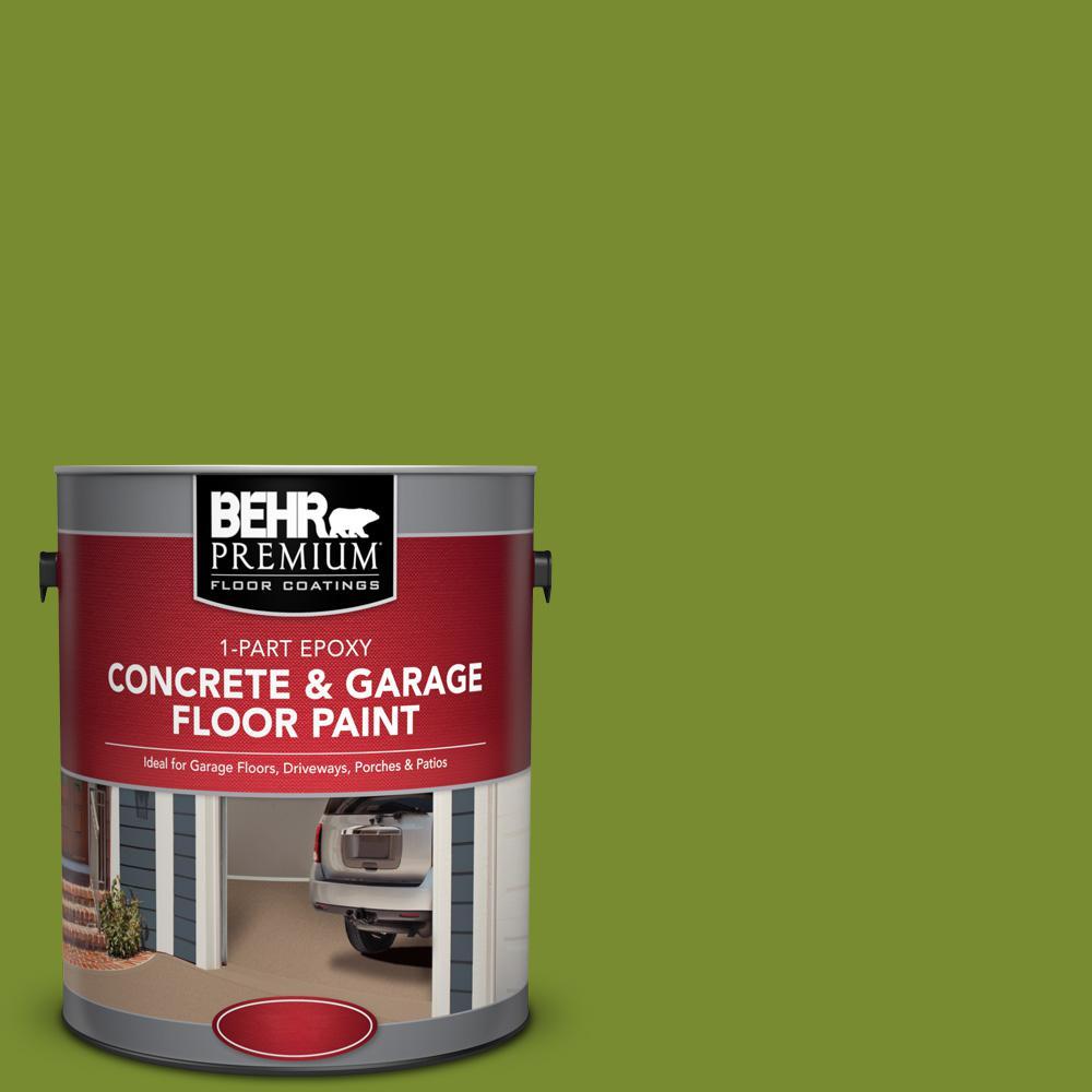 1 gal. #P360-7 Sassy Grass 1-Part Epoxy Satin Interior/Exterior Concrete and Garage Floor Paint