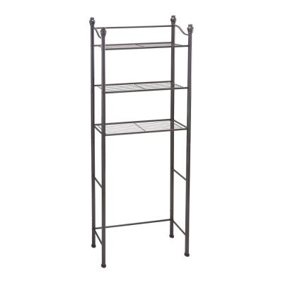 10.25 in. W  3-Tier Over the Toilet Space Saver in Oil Rubbed Bronze