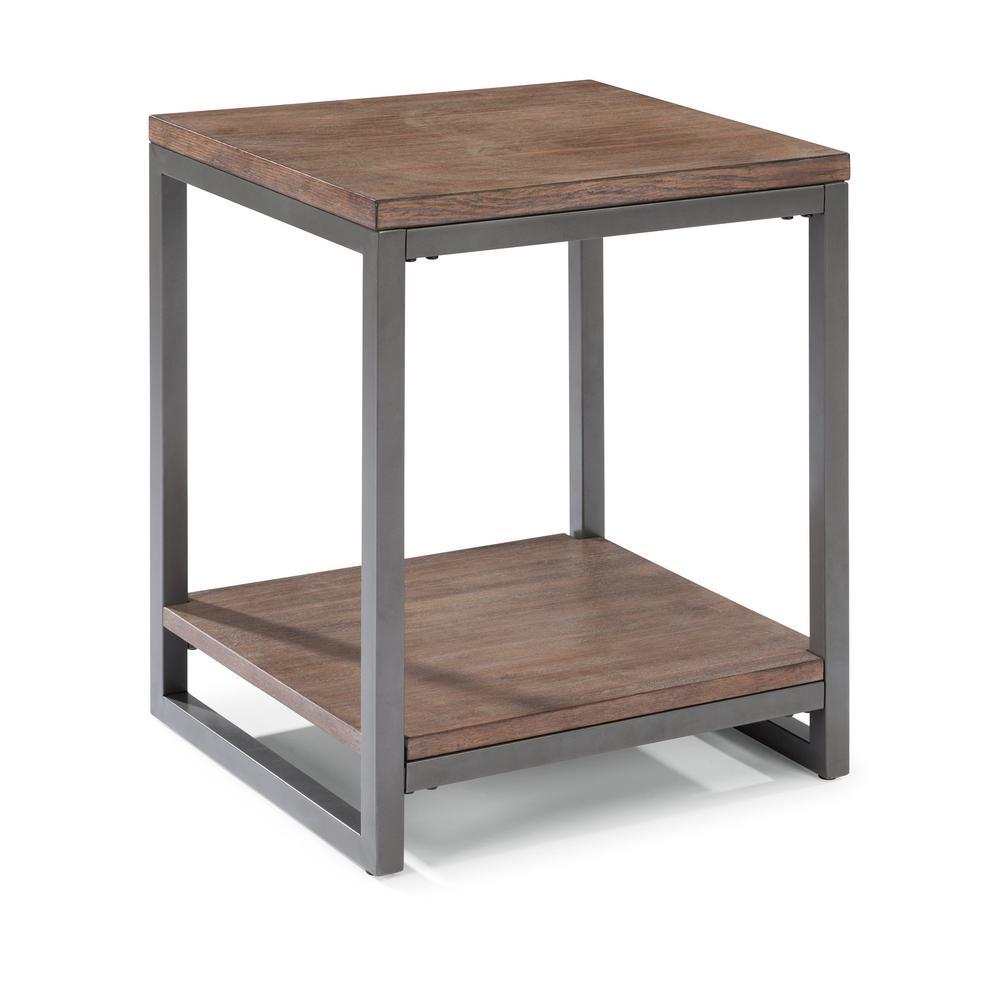 Barnside Metro Driftwood Gray End Table