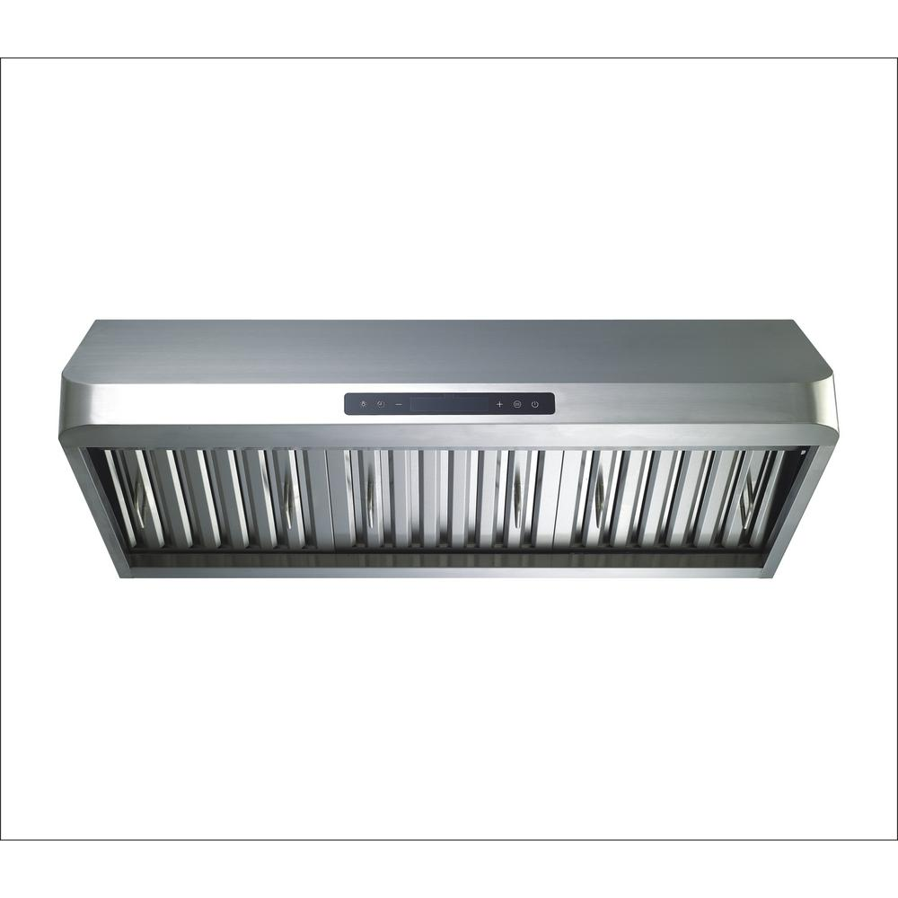 30 inch Under Cabinet Range Hood Delay Auto Shut-Off LED Light Convertible 12//24 Clock Timer Permanent Filter Stainless Steel 3 Speed Exhaust Kitchen Stove Vented HTH 760CFM Large Fan