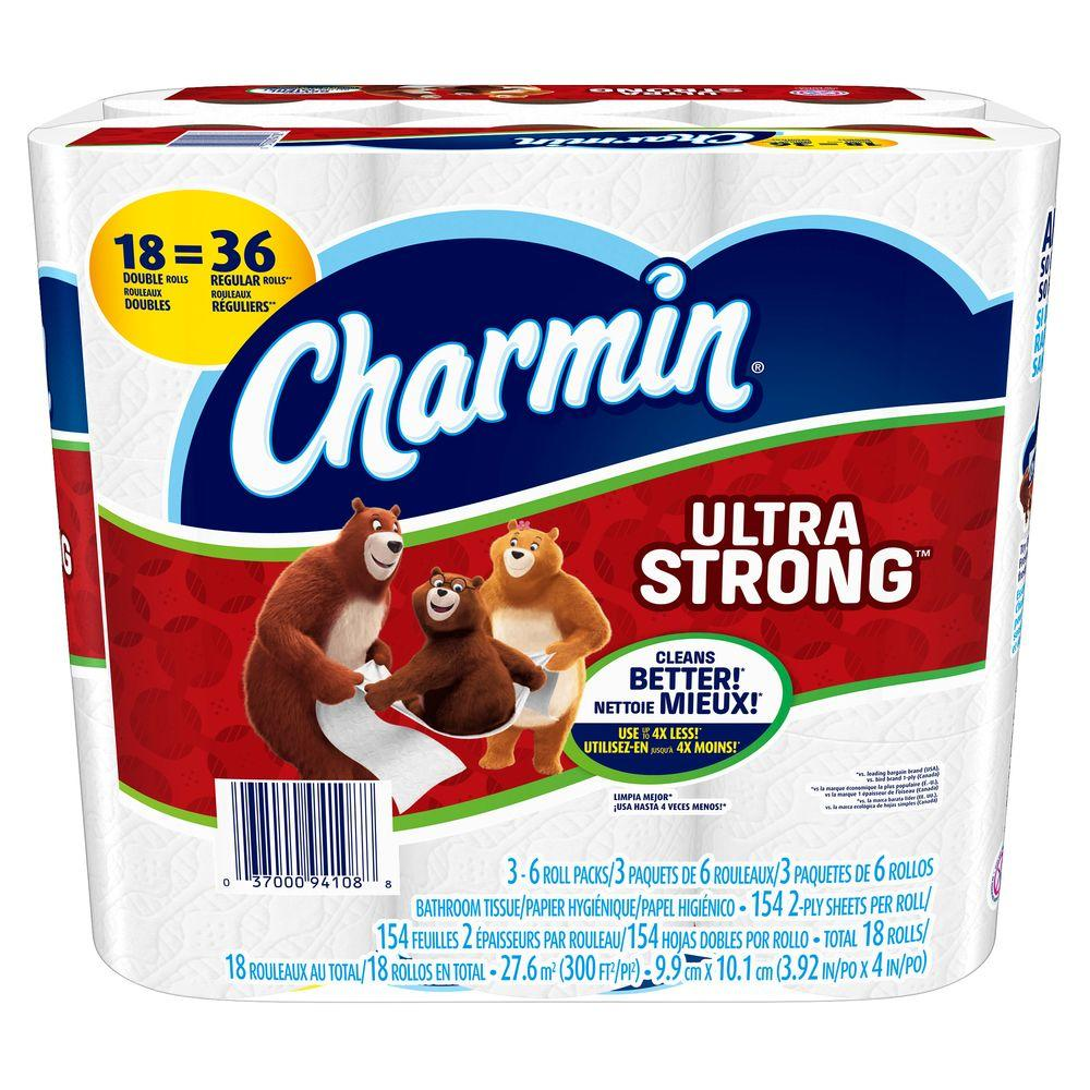 Charmin Ultra Strong Toilet Paper 18 Double Rolls 003700094285