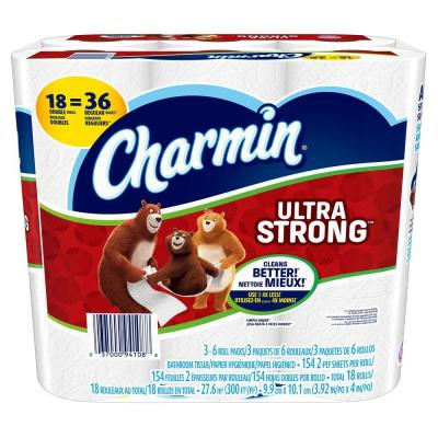 Charmin Ultra Strong Toilet Paper (18 Double Rolls) – Home