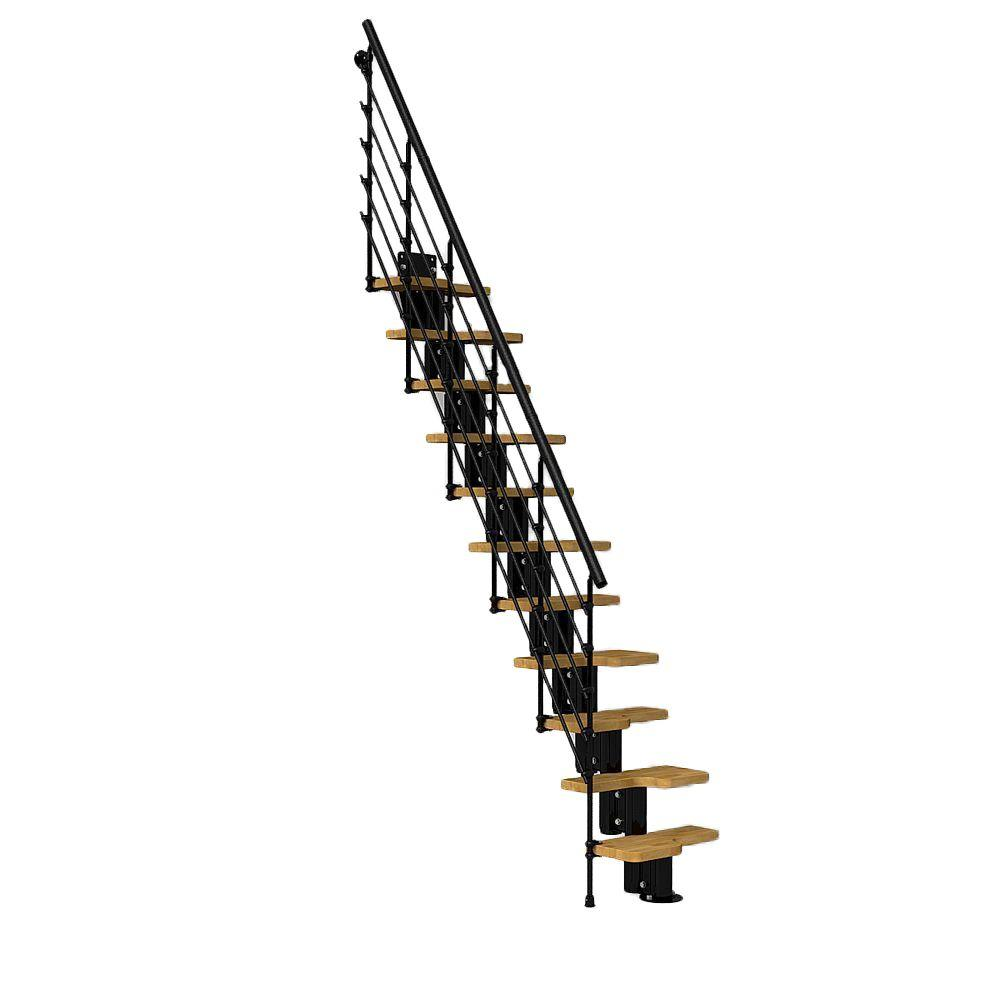 Oak30.Xtra 22 in. Black Modular Staircase Kit