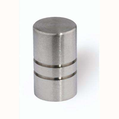 1/2 in. Fine Brushed Stainless Steel Cabinet Knob