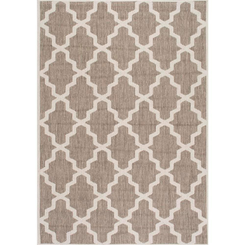 Nuloom Gina Moroccan Trellis Taupe 8 Ft X 11 Ft Outdoor