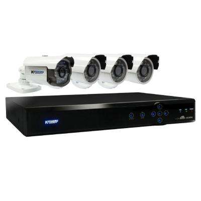 Aurora 4-Channel 960H Cloud Surveillance System with 500GB HDD (1) 800TVL Auto Tracking and (3) 700TVL Camera