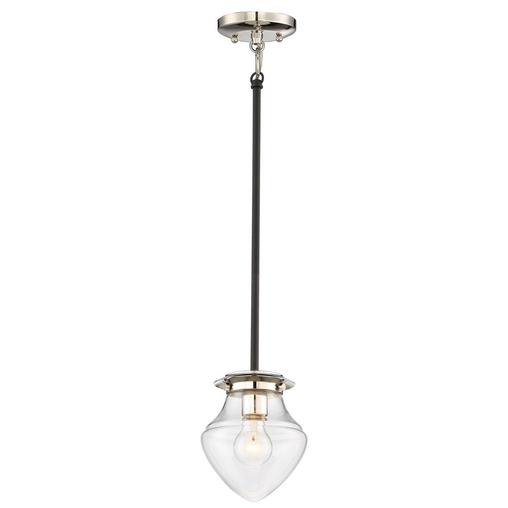 The Cape 1-Light Polished Nickel Mini Pendant
