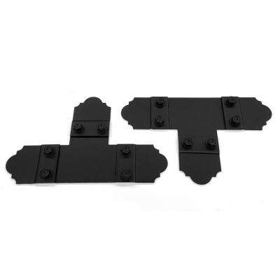 5 in. Black Galv. Steel T Tie Plate Wood Connector with Laredo Sunset Truss Accent Plates (2 sets per box)