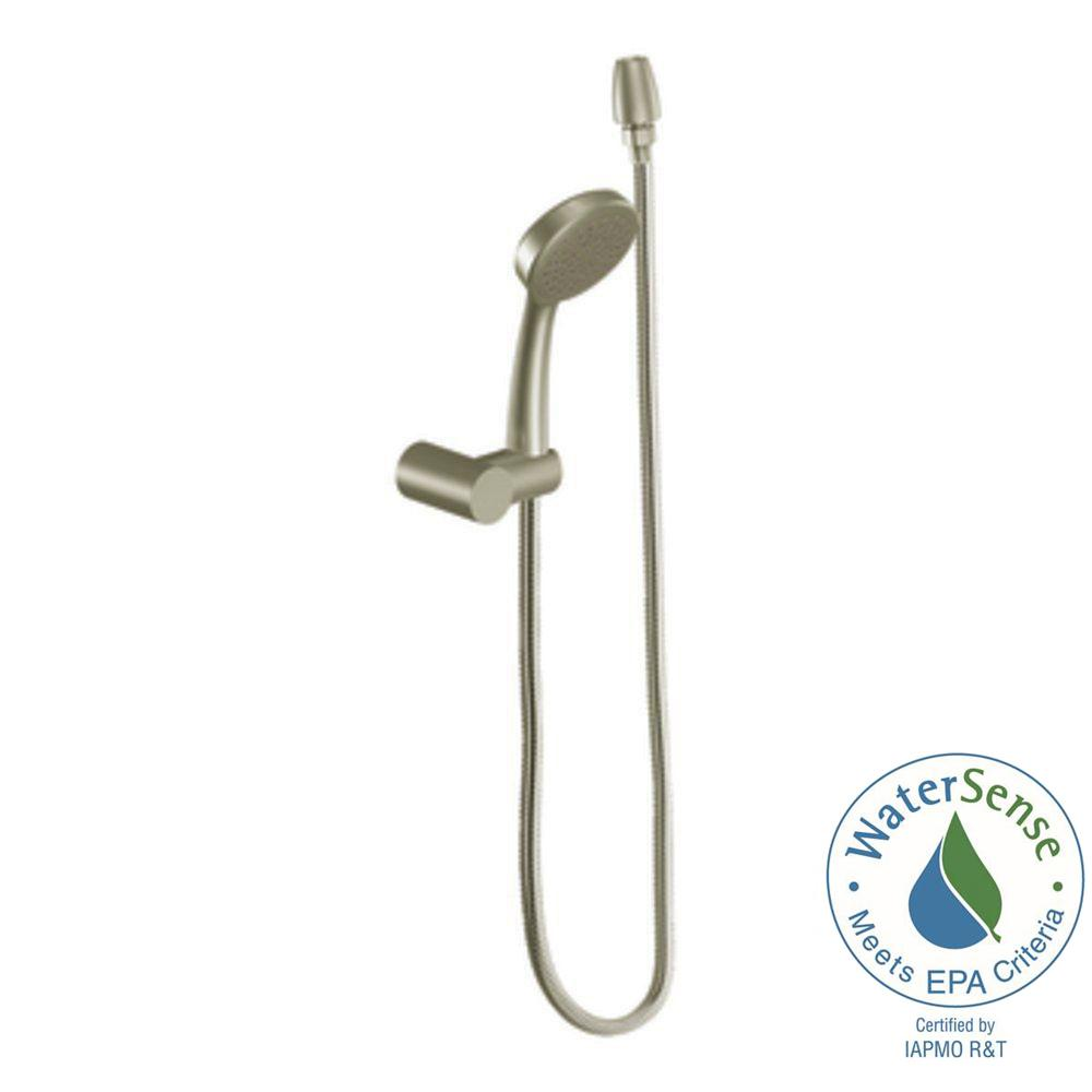 MOEN Eco-Performance 1-Spray Hand Shower with Wall Bracket in Brushed Nickel