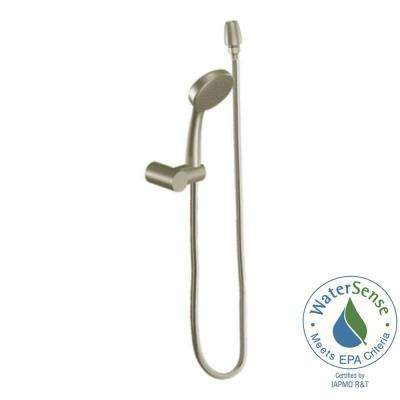 Eco-Performance 1-Spray Hand Shower with Wall Bracket in Brushed Nickel