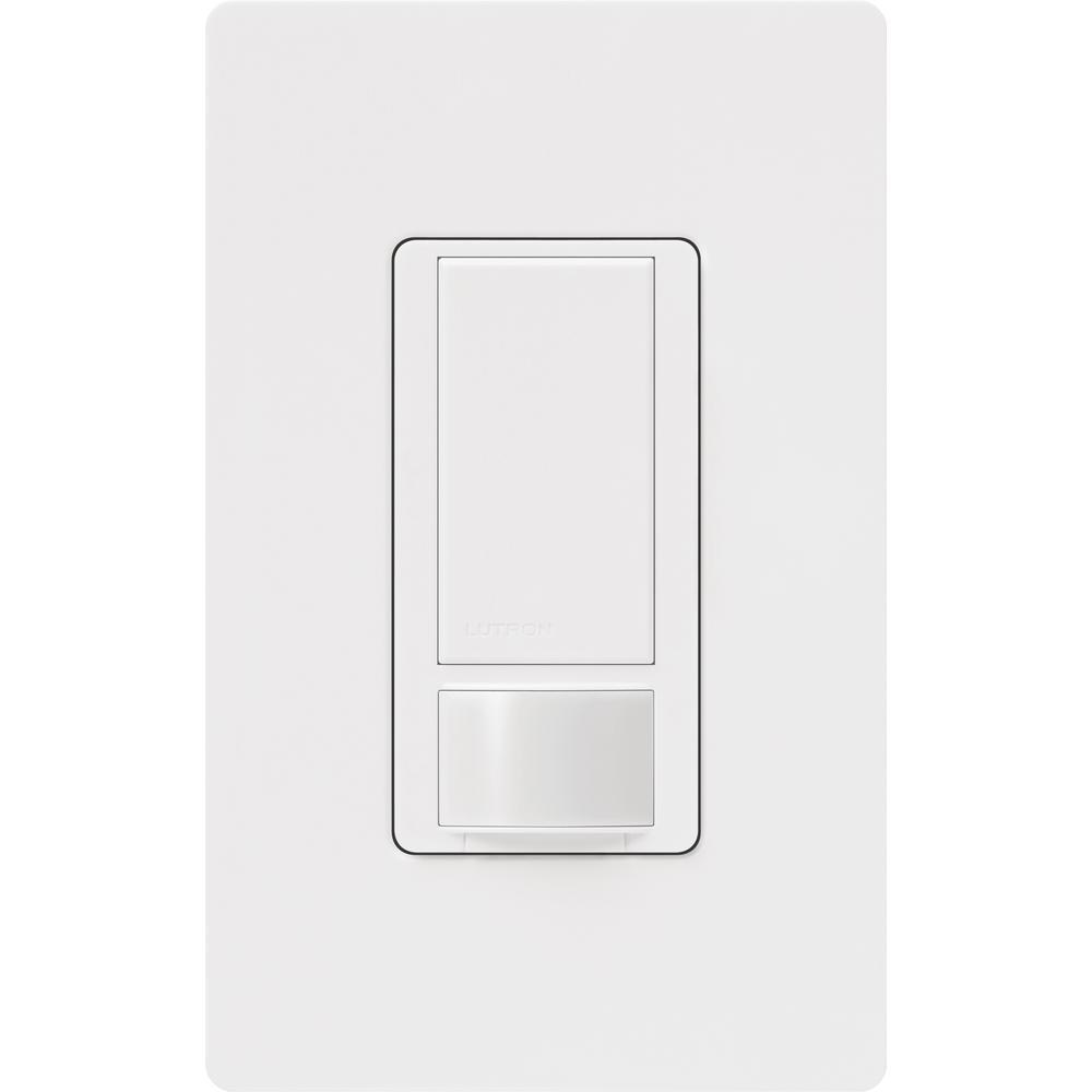 Maestro Motion Sensor switch with Wallplate, 5 Amp, Single-Pole, White