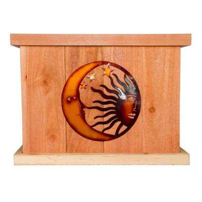 22 in. x 22 in. Deluxe Redwood Planter with Celestial Art