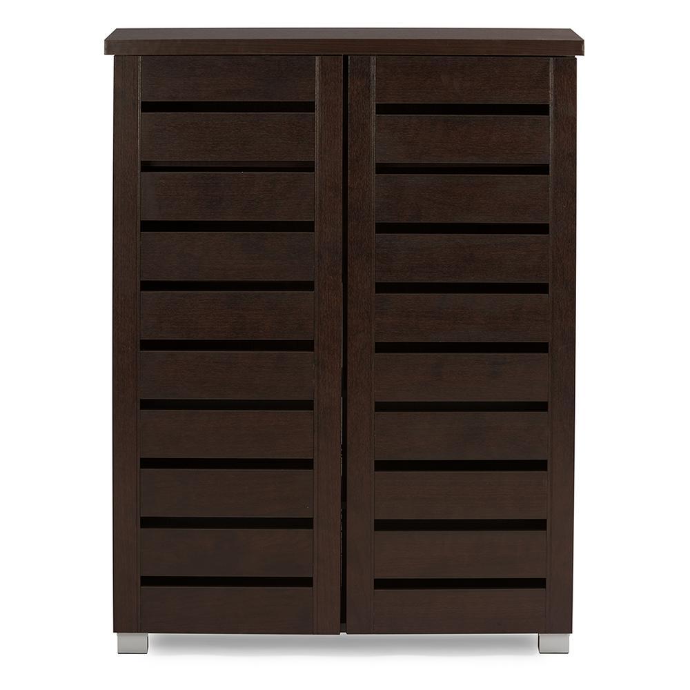 Adalwin Dark Brown Tall Storage Cabinet