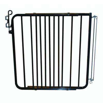 30 in. H x 26 in. to 40 in. W x 2 in. D Auto-Lock Gate in Black
