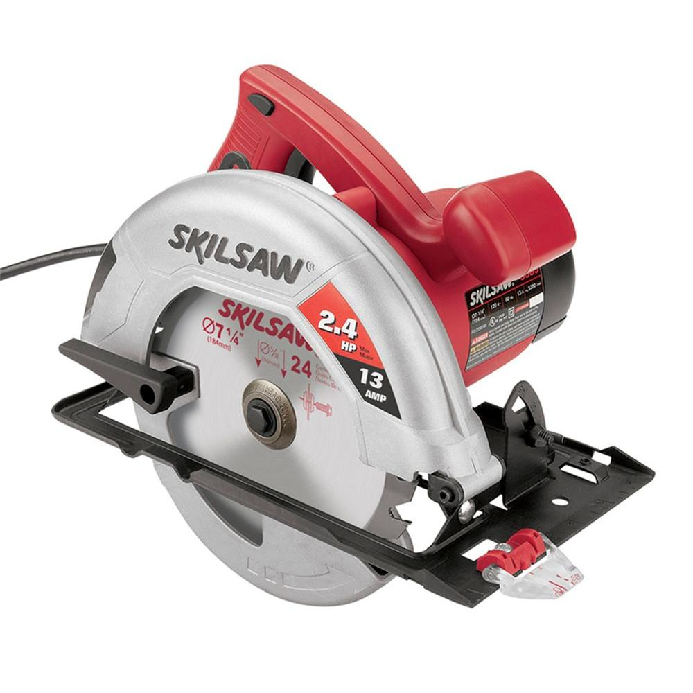 Skil 13 amp corded electric 7 14 in circular saw 5585 01 the skil 13 amp corded electric 7 14 in circular saw greentooth