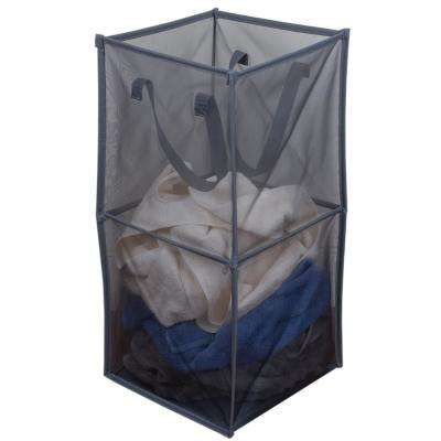 Medium Breathable Micro Mesh Grey Collapsible Laundry Cube