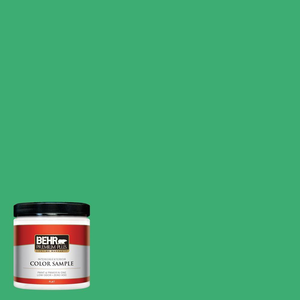 8 oz. #460B-5 Fresh Greens Interior/Exterior Paint Sample