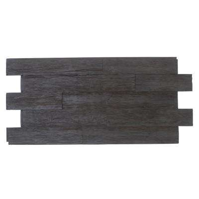 Time Weathered Faux Rustic Panel 1-1/4 in. x 48 in. x 23 in. Double Espresso Polyurethane Interlocking Panel