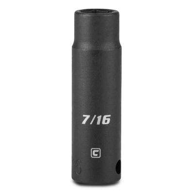 3/8 in. Drive 7/16 in. 6-Point SAE Deep Impact Socket
