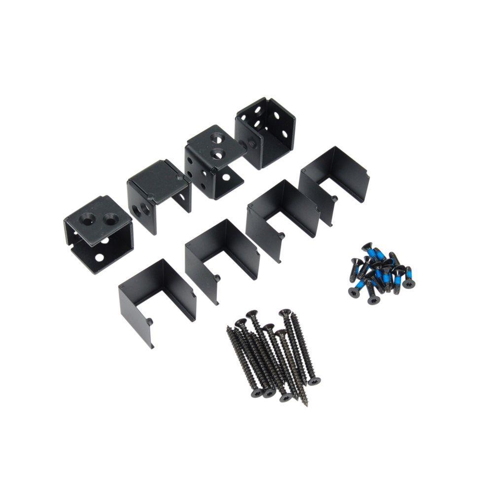 Fe26 1-1/4 in. Steel Black Sand Level Universal Bracket (4-Pack)