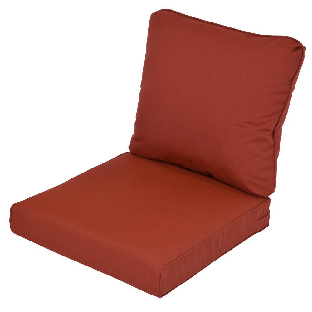 Lemon Grove Sunbrella Canvas Henna Replacement 2-Piece Outdoor Sofa Cushion