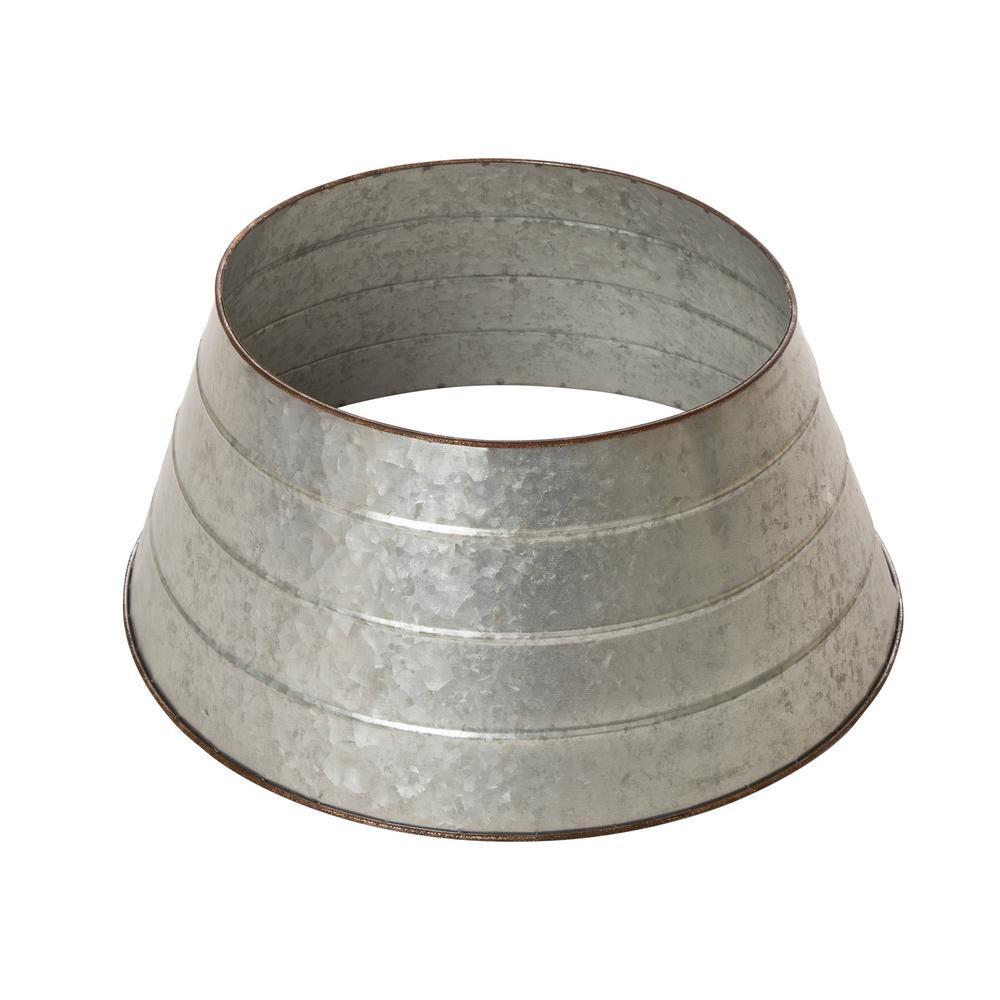 22 in. D Galvanized Metal Tree Collar