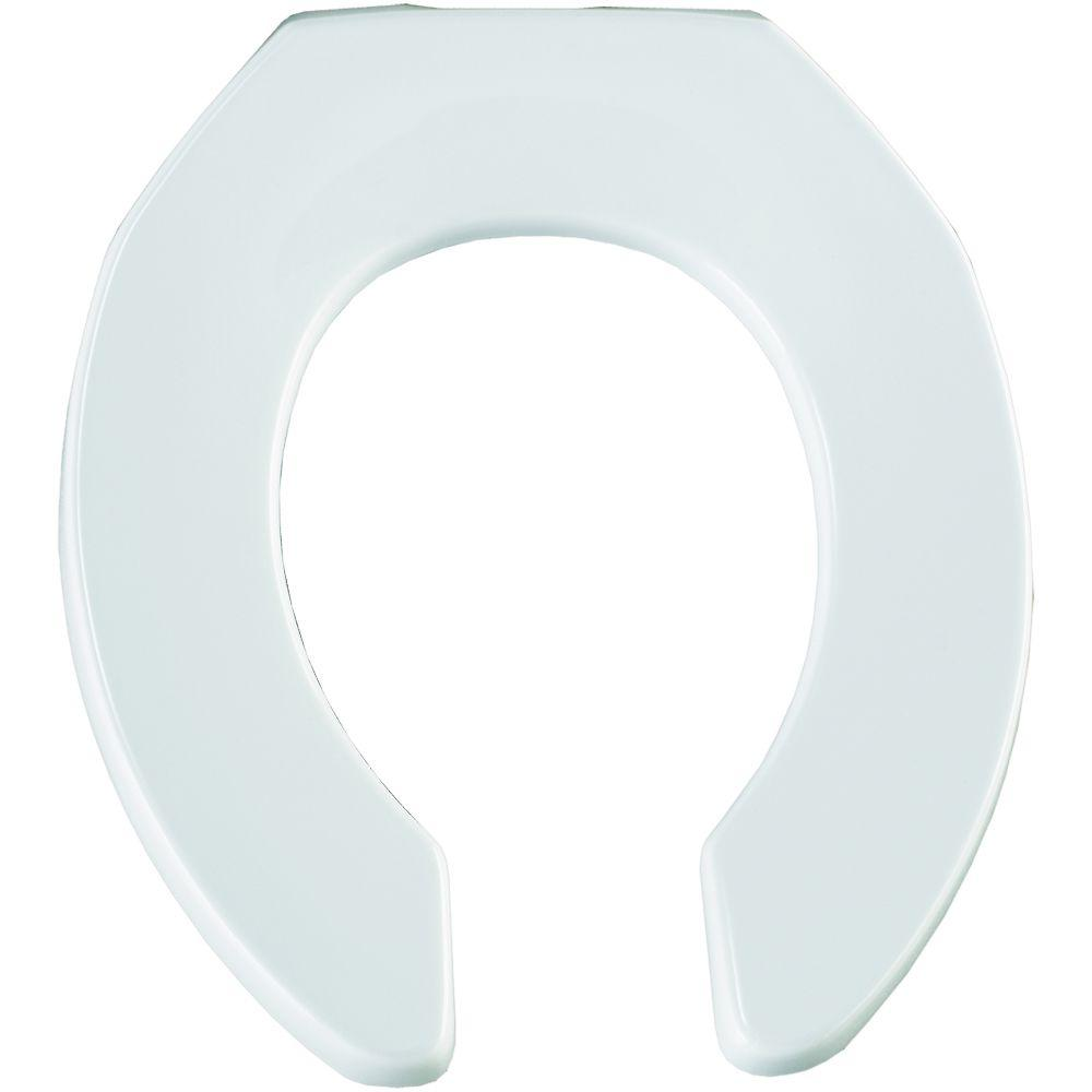 Church Sta Tite Round Open Front Toilet Seat In White 397ssct 000