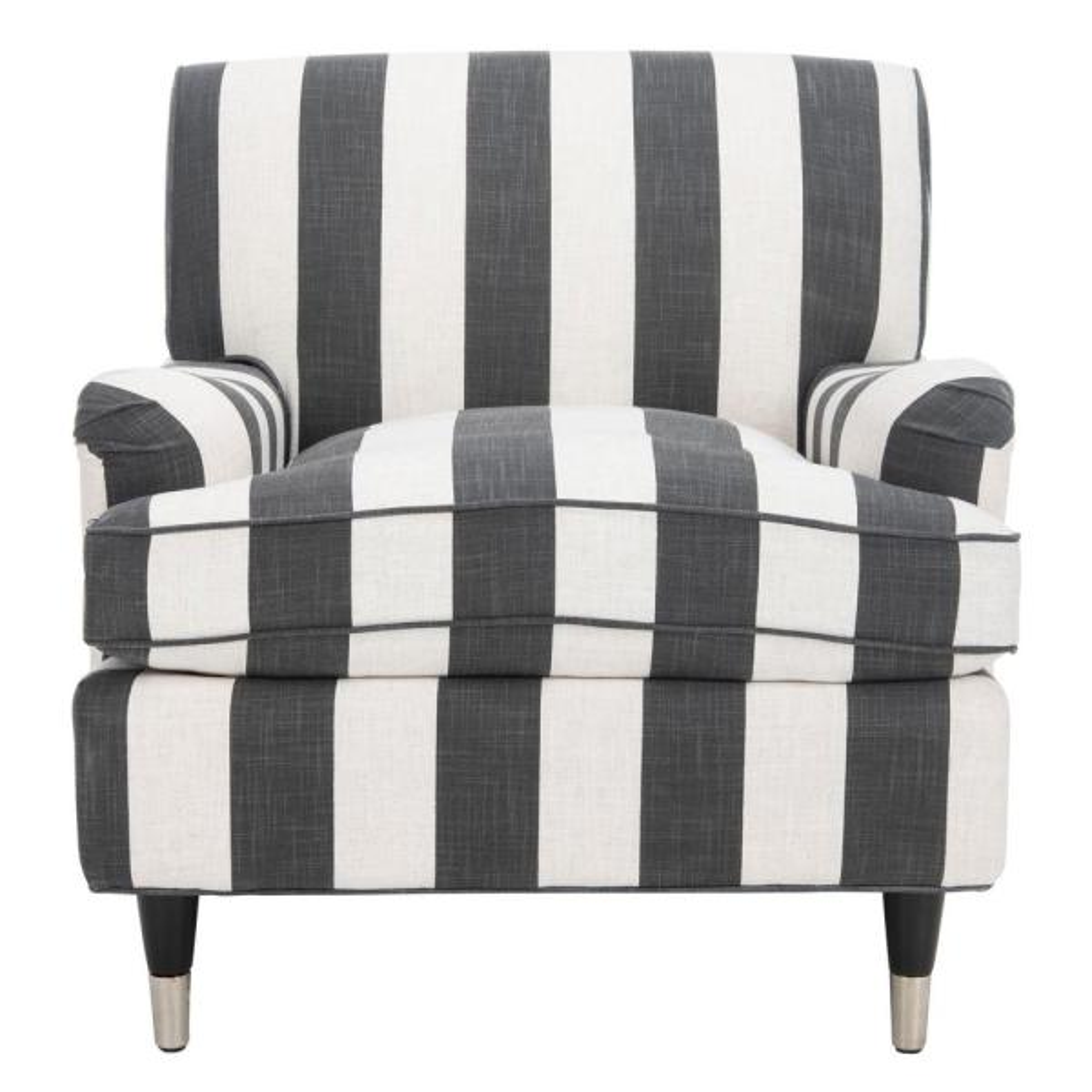 Safavieh Chloe Black/White/Espresso Accent Chair MCR4571H