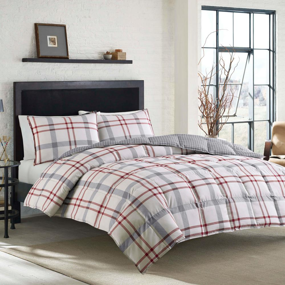 Eddie Bauer 3 Piece Beige Portage Bay Full Queen Duvet Cover Set